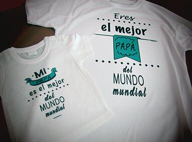 Camiseta personalizada papa hijo