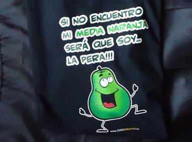 Camiseta de pera digital