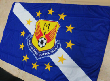 Impresión de bandera de fútbol