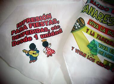 Impresión de pañuelos personalizados