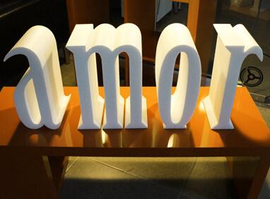 Impresión de letras de corcho
