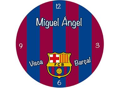Reloj personalizado Barcelona F.C