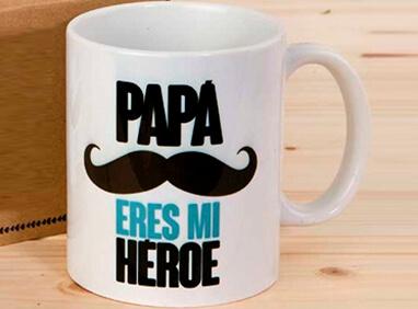 taza papá héroe