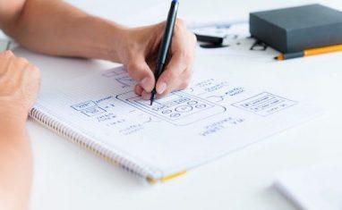 boceto de diseño web