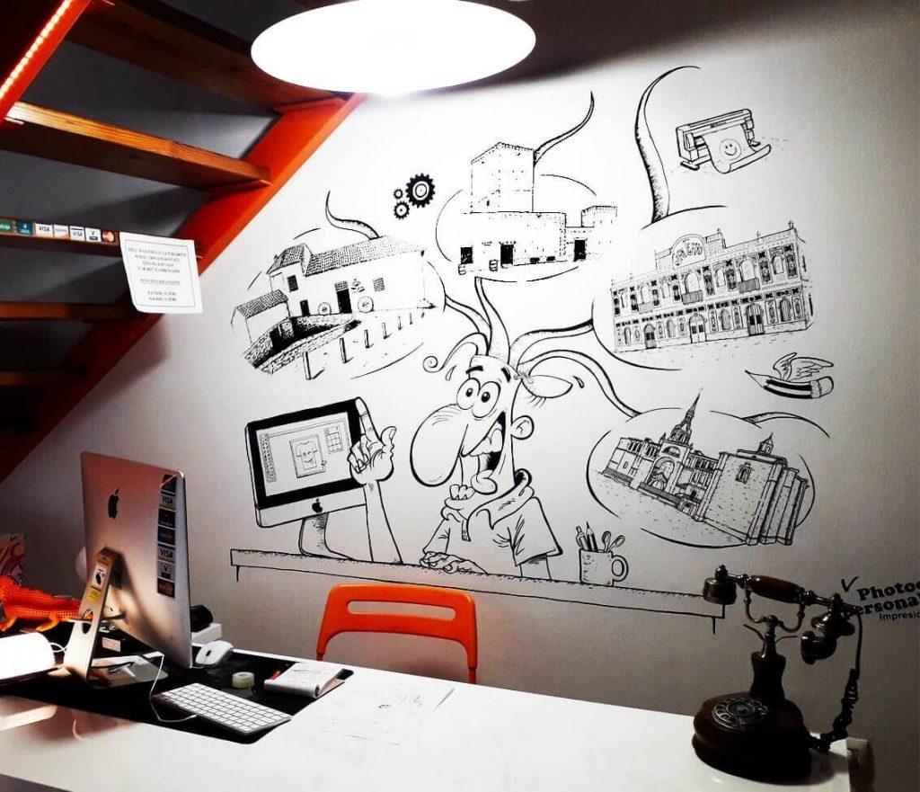 Caricaturas - Pintura Mural